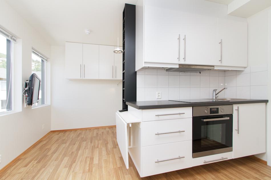 Kjøkenkrok med stove/sov