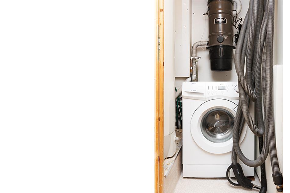 Vaskemaskin og sentralstøvsuger